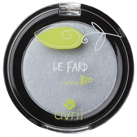 Fard à paupières Gris perle irisé - certifié bio - Avril