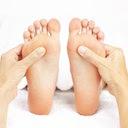 Illustration pieds reflexologie plantaire